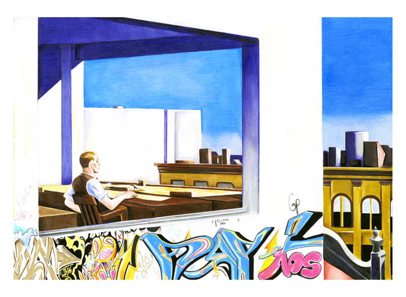 Hopper Graff Print by DAY-Z